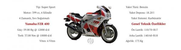 Yamaha FZR 400 (1986 - 1988) - Motodeks