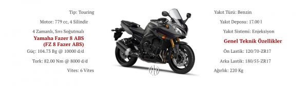 Yamaha Fazer 8 ABS (FZ 8 Fazer ABS) (2011 - 2013) - Motodeks
