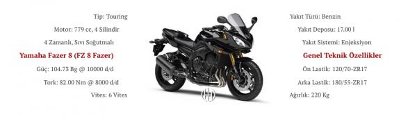 Yamaha Fazer 8 (FZ 8 Fazer) (2013 - 2016) - Motodeks