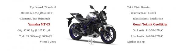 Yamaha MT 03 (2016 - 2019) - Motodeks