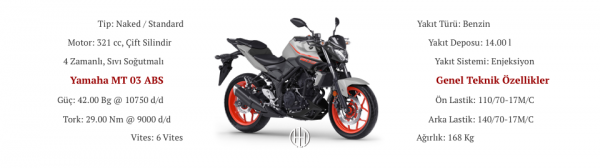 Yamaha MT 03 ABS (2016 - 2019) - Motodeks