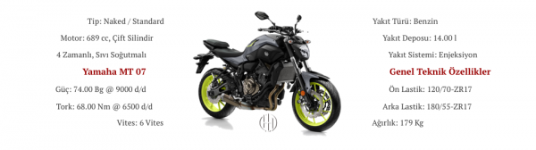 Yamaha MT 07 (2014 - 2017) - Motodeks