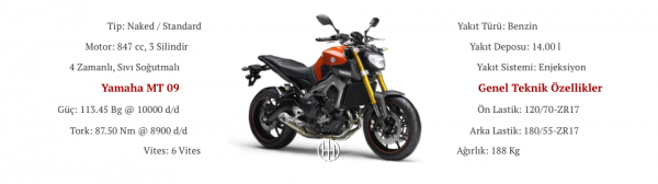 Yamaha MT 09 (2014 - 2016) - Motodeks
