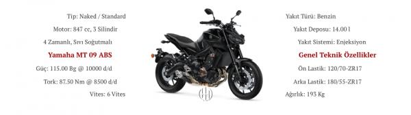 Yamaha MT 09 ABS (2017 - 2020) - Motodeks