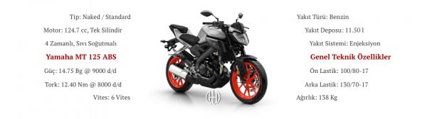Yamaha MT 125 ABS (2014 - 2019) - Motodeks