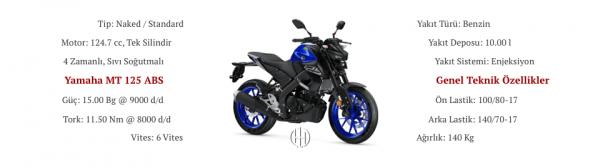 Yamaha MT 125 ABS (2020 - XXXX) - Motodeks