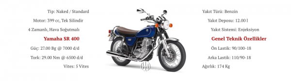 Yamaha SR 400 (2014 - XXXX) - Motodeks