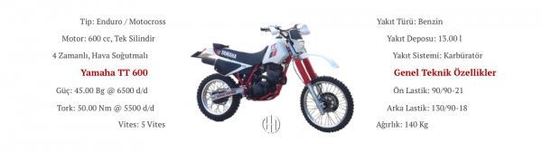 Yamaha TT 600 (1983 - 1986) - Motodeks