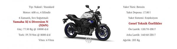 Yamaha XJ 6 Diversion N (XJ6N) (2009 - 2016) - Motodeks