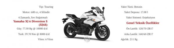 Yamaha XJ 6 Diversion S (XJ6S) (2009 - 2016) - Motodeks
