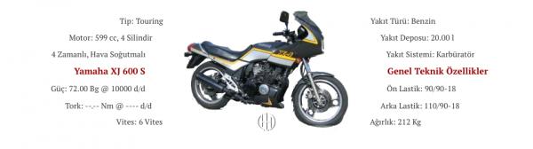 Yamaha XJ 600 S (1984 - 1986) - Motodeks
