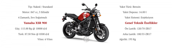 Yamaha XSR 900 (2016 - XXXX) - Motodeks