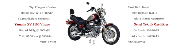 Yamaha XV 1100 Virago (1986 - 1999) - Motodeks