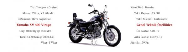 Yamaha XV 400 Virago (1987 - 1994) - Motodeks