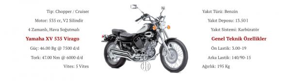 Yamaha XV 535 Virago (1987 - 2003) - Motodeks