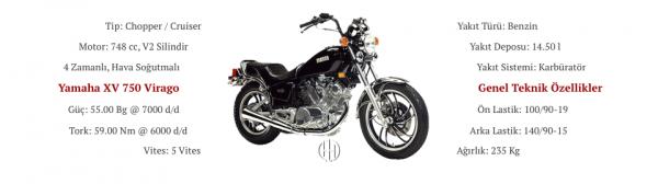 Yamaha XV 750 Virago (1986 - 1998) - Motodeks