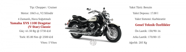 Yamaha XVS 1100 Dragstar (V-Star) Classic (1999 - 2011) - Motodeks
