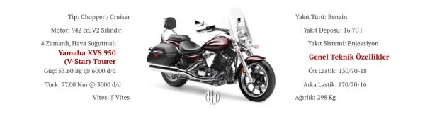 Yamaha XVS 950 (V-Star) Tourer (2009 - 2017) - Motodeks