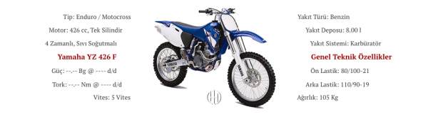 Yamaha YZ 426 F (2001 - 2002) - Motodeks