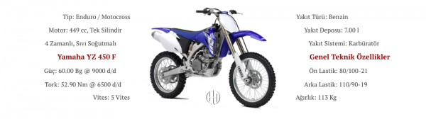 Yamaha YZ 450 F (2003 - 2009) - Motodeks