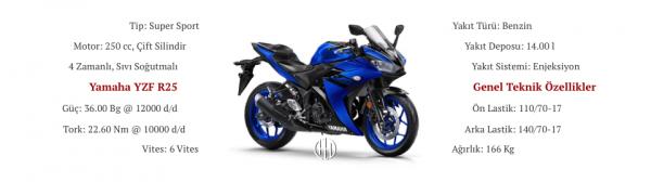 Yamaha YZF R25 (2015 - 2018) - Motodeks