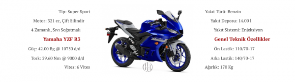 Yamaha YZF R3 (2019 - XXXX) - Motodeks