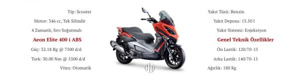 Aeon Elite 400 i ABS (2018 - XXXX) - Motodeks