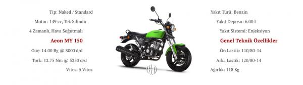 Aeon MY 150 (2019 - XXXX) - Motodeks