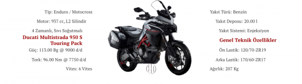 Ducati Multistrada 950 S Touring Pack (2019 - XXXX) - Motodeks