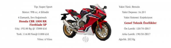 Honda CBR 1000 RR Fireblade SP (2017 - 2019) - Motodeks
