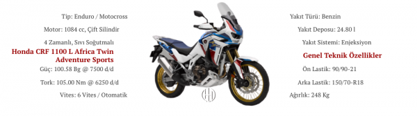 Honda CRF 1100 L Africa Twin Adventure Sports (2020 - XXXX) - Motodeks