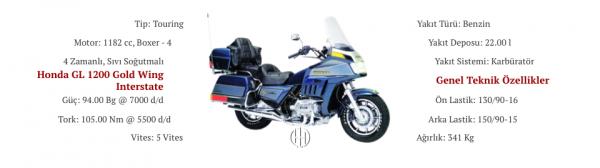 Honda GL 1200 Gold Wing Interstate (1984 - 1987) - Motodeks