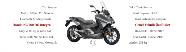 Honda NC 700 DC Integra (2012 - 2013) - Motodeks