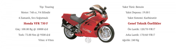 Honda VFR 750 F (1990 - 1993) - Motodeks