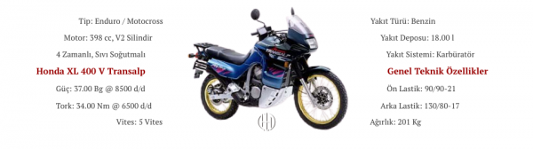 Honda XL 400 V Transalp (1994 - 1996) - Motodeks