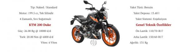 KTM 200 Duke (2011 - 2019) - Motodeks