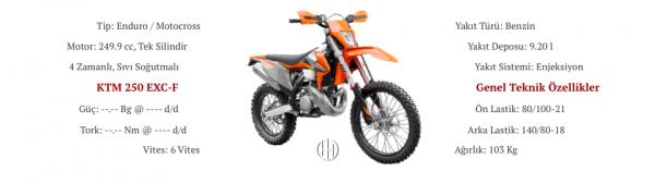 KTM 250 EXC-F (2018 - XXXX) - Motodeks