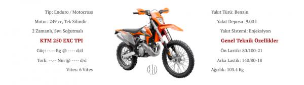 KTM 250 EXC TPI (2018 - XXXX) - Motodeks