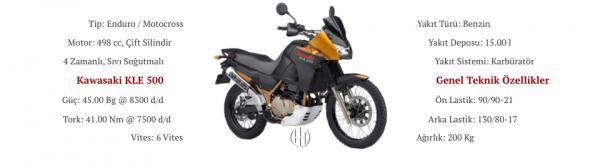 Kawasaki KLE 500 (2005 - 2007) - Motodeks