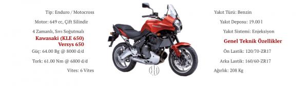 Kawasaki (KLE 650) Versys 650 (2007 - 2009) - Motodeks