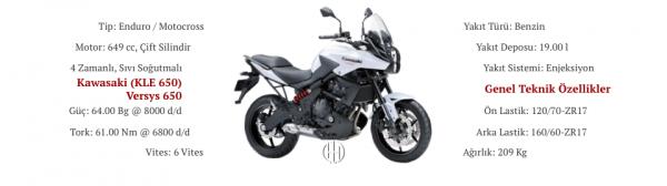 Kawasaki (KLE 650) Versys 650 (2010 - 2014) - Motodeks