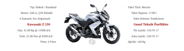 Kawasaki Z 250 (2013 - 2018) - Motodeks