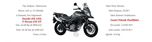 Suzuki (DL 650) V-Strom 650 XT (2015 - 2016) - Motodeks