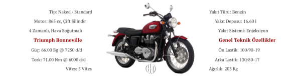 Triumph Bonneville (2007 - 2008) - Motodeks