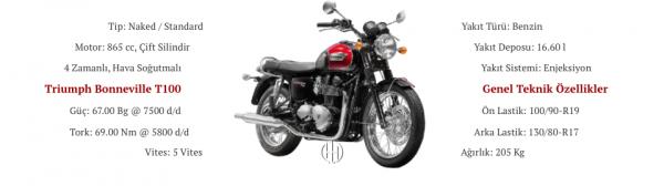 Triumph Bonneville T100 (2007 - 2016) - Motodeks