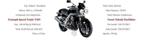 Triumph Speed Triple T509 (1997 - 1998) - Motodeks