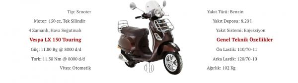 Vespa LX 150 Touring (2009 - 2014) - Motodeks