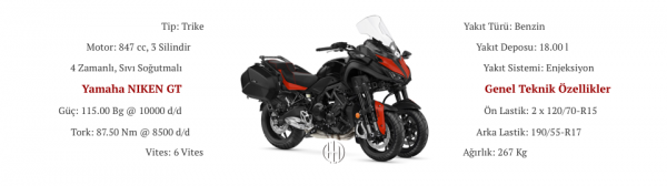 Yamaha NIKEN GT (2019 - XXXX) - Motodeks
