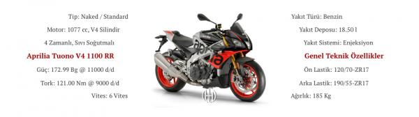 Aprilia Tuono V4 1100 RR (2015 - XXXX) - Motodeks