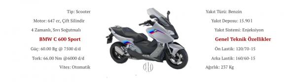 BMW C 600 Sport (2012 - 2015) - Motodeks